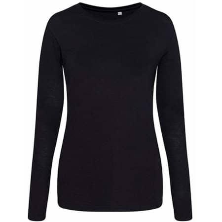 Longsleeve Girlie Tri-Blend T in Solid Black von Just Ts (Artnum: JT002F