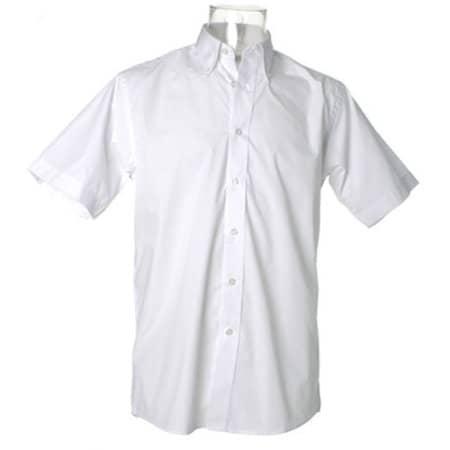 Men`s Workforce Shirt Short Sleeve in White von Kustom Kit (Artnum: K100