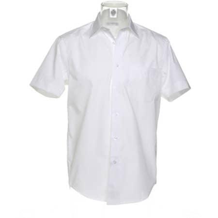 Men`s Business Shirt Short Sleeve in White von Kustom Kit (Artnum: K102