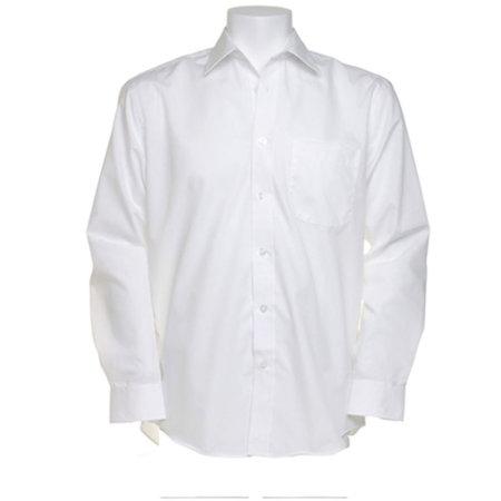 Men`s Business Shirt Long Sleeve in White von Kustom Kit (Artnum: K104