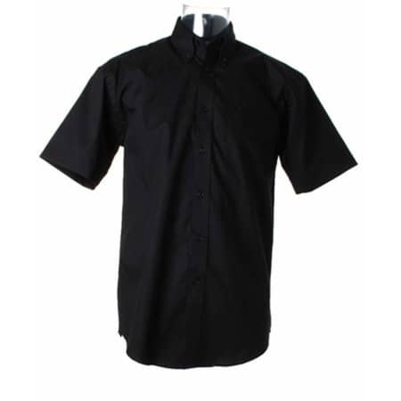 Men`s Corporate Oxford Shirt Short Sleeve in Black von Kustom Kit (Artnum: K109