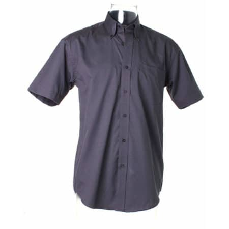 Men`s Corporate Oxford Shirt Short Sleeve in Charcoal von Kustom Kit (Artnum: K109