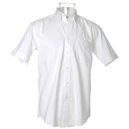 Men`s Corporate Oxford Shirt Short Sleeve in White von Kustom Kit (Artnum: K109
