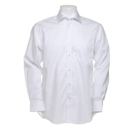 Men`s Premium Non Iron Corporate Shirt Long Sleeve in White von Kustom Kit (Artnum: K116