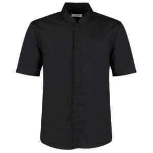 Men`s Bar Shirt Mandarin Collar Short Sleeve