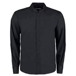 Men`s Bar Shirt Mandarin Collar Long Sleeve