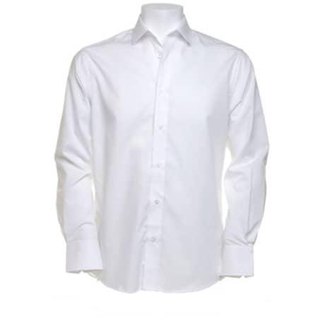 Business Tailored Fit Poplin Shirt in White von Kustom Kit (Artnum: K131
