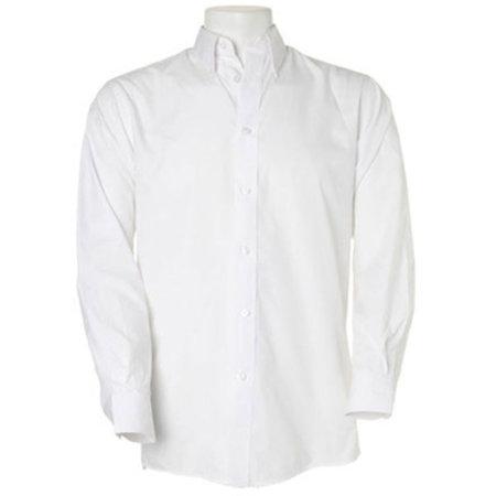 Men`s Workforce Shirt Long Sleeve in White von Kustom Kit (Artnum: K140