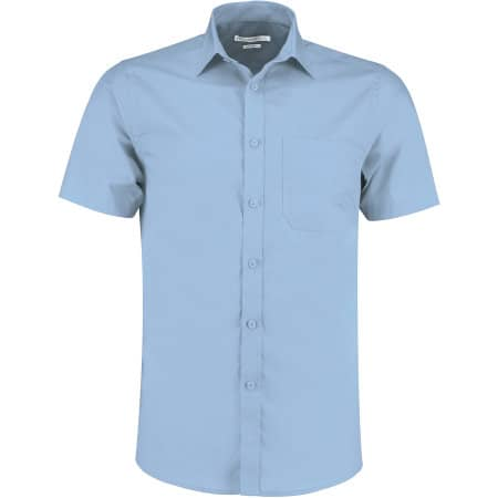 Tailored Fit Poplin Shirt Short Sleeve von Kustom Kit (Artnum: K141