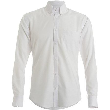 Slim Fit Workwear Oxford Shirt Long Sleeve in White von Kustom Kit (Artnum: K184