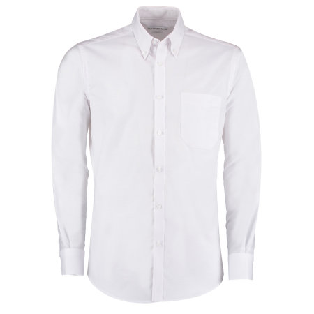 Slim Fit Workwear Oxford Shirt Long Sleeve von Kustom Kit (Artnum: K184
