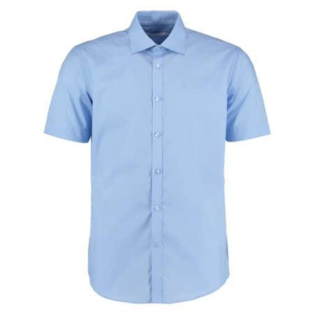 Men`s Slim Fit Business Shirt Short Sleeve von Kustom Kit (Artnum: K191