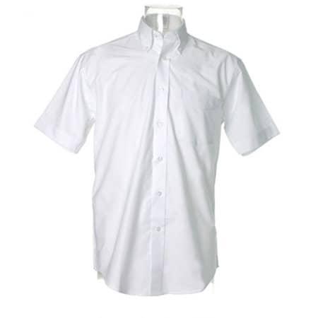 Men`s Workwear Oxford Shirt Short Sleeve in White von Kustom Kit (Artnum: K350