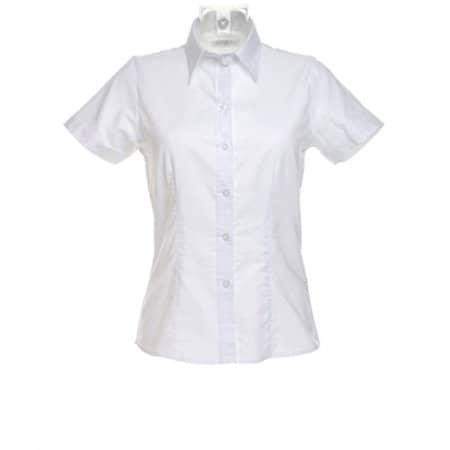 Women`s Workwear Oxford Shirt Short Sleeve in White von Kustom Kit (Artnum: K360