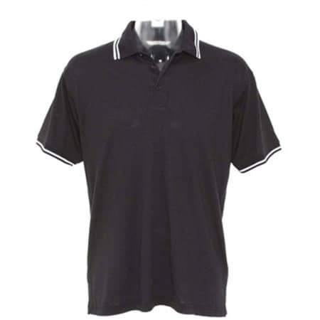 Tipped Collar Polo in Black|White von Kustom Kit (Artnum: K409