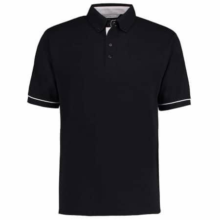 Button Down Collar Contrast Polo Shirt von Kustom Kit (Artnum: K449
