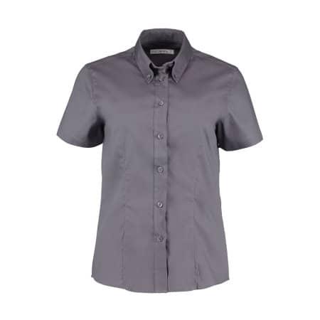 Women`s Corporate Oxford Shirt Short Sleeve von Kustom Kit (Artnum: K701