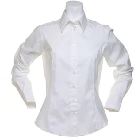 Women`s Corporate Oxford Shirt Long Sleeve in White von Kustom Kit (Artnum: K702