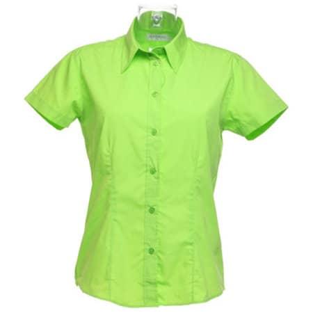 Women`s Workforce Poplin Shirt Short Sleeve in Lime von Kustom Kit (Artnum: K728
