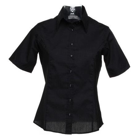 Womens Business Poplin Shirt Short Sle von Kustom Kit (Artnum: K742