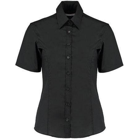 Business Shirt Short Sleeve in Black von Kustom Kit (Artnum: K742F