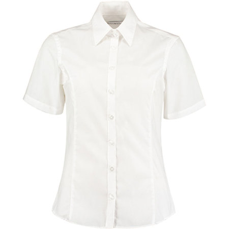 Business Shirt Short Sleeve in White von Kustom Kit (Artnum: K742F