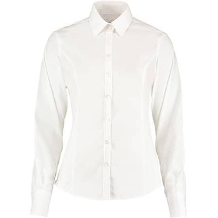Business Shirt Long Sleeve in White von Kustom Kit (Artnum: K743F