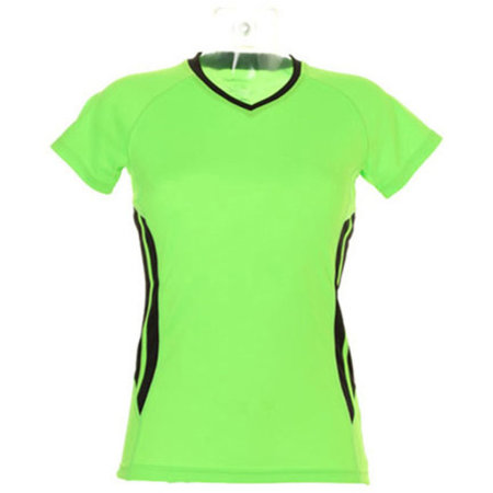 Women`s Training T-Shirt in Fluorescent Lime Black von Gamegear Cooltex (Artnum: K940