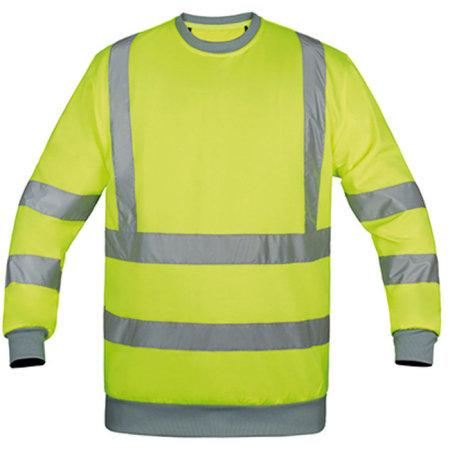 Sweatshirt Hi-Viz in Signal Yellow von Korntex (Artnum: KX324