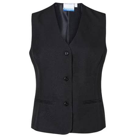 Damenweste Basic in Black (ca. Pantone Black 6 C) von Karlowsky (Artnum: KY012