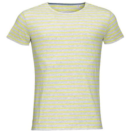 Men`s Round Neck Striped T-Shirt Miles von SOL´S (Artnum: L01398