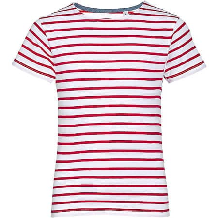 Kids` Round Neck Striped T-Shirt Miles von SOL´S (Artnum: L01400