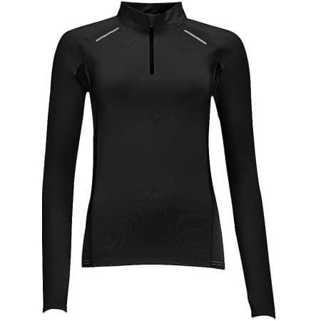 Women`s Long Sleeve Running Shirt Berlin in Black von SOL´S (Artnum: L01417