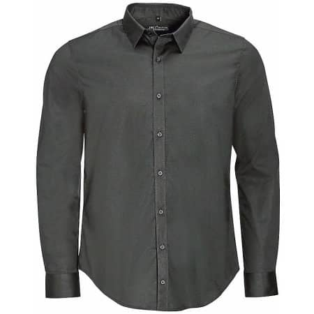 Men`s Long Sleeve Stretch Shirt Blake in Titanium Grey von SOL´S (Artnum: L01426