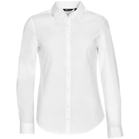 Women`s Long Sleeve Stretch Shirt Blake in White von SOL´S (Artnum: L01427