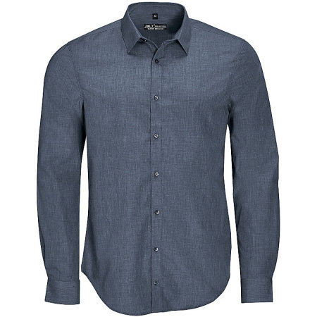 Men`s Long Sleeve Poplin Shirt Barnet von SOL´S (Artnum: L01428