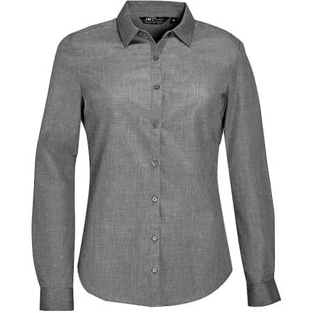 Women`s Long Sleeve Poplin Shirt Barnet von SOL´S (Artnum: L01429