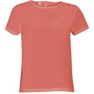 Women`s Short Sleeve Moss Crepe Shirt Bridget