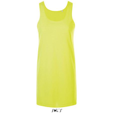 Cocktail Dress in Neon Yellow von SOL´S (Artnum: L01701