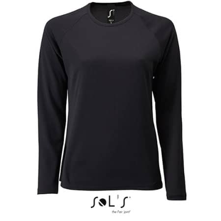 Women`s Long-Sleeve Sports T-Shirt Sporty von SOL´S (Artnum: L02072