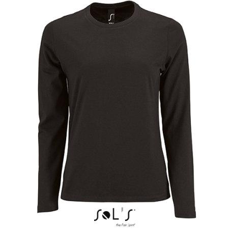 Women`s Long-Sleeve T-Shirt Imperial in Deep Black von SOL´S (Artnum: L02075