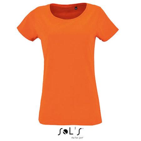 Women`s Short Sleeved T-Shirt Milo in Orange von SOL´S (Artnum: L02077