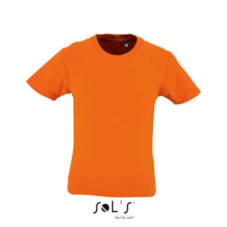 Kids` Round Neck Short-Sleeve T-Shirt Milo in Orange von SOL´S (Artnum: L02078