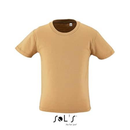 Kids` Round Neck Short-Sleeve T-Shirt Milo in Sand von SOL´S (Artnum: L02078