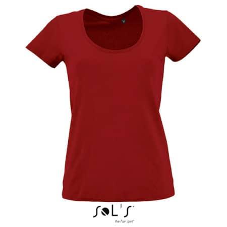 Women`s Low-Cut Round Neck T-Shirt Metropolitan von SOL´S (Artnum: L02079