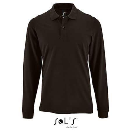 Men`s Long-Sleeve Piqué Polo Shirt Perfect in Black von SOL´S (Artnum: L02087