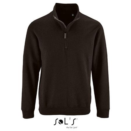 Men`s Zip High Collar Sweatshirt Stan in Black von SOL´S (Artnum: L02088