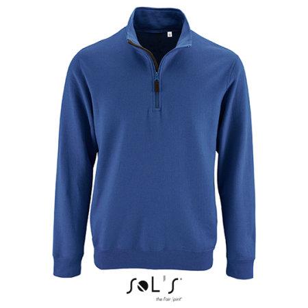 Men`s Zip High Collar Sweatshirt Stan in Royal Blue von SOL´S (Artnum: L02088