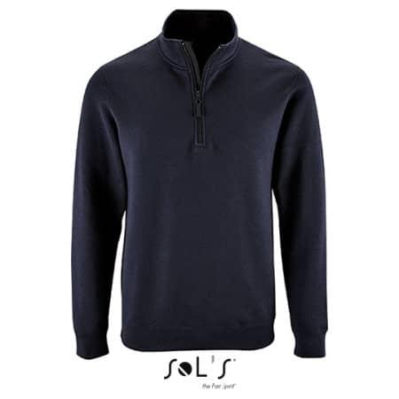 Men`s Zip High Collar Sweatshirt Stan von SOL´S (Artnum: L02088