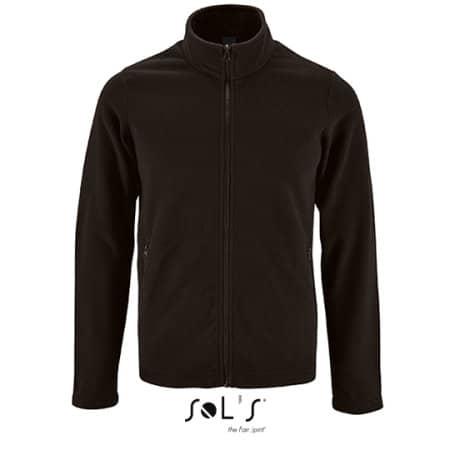 Men`s Plain Fleece Jacket Norman in Black von SOL´S (Artnum: L02093
